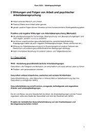 5 Wirkungen und Folgen von Arbeit und psychischer - Beabea-Blog