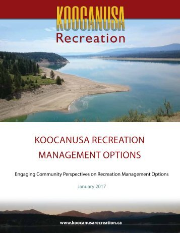 Koocanusa recreation management options