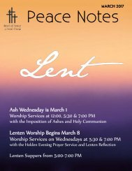 Peace Notes-March 2017 - Word of Peace Lutheran Church