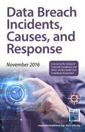 Incidents Causes and Response