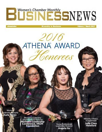 Women's Chamber Monthly Business News