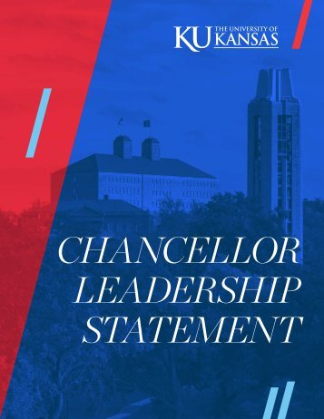 CHANCELLOR LEADERSHIP STATEMENT