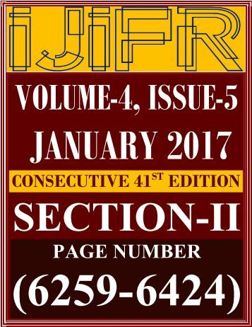 IJIFR VOLUME 4 ISSUE 5 , JANUARY 2017 SECTION 2