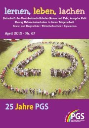 Schulzeitung Nr. 67 - Paul-Gerhardt-Schule Kahl