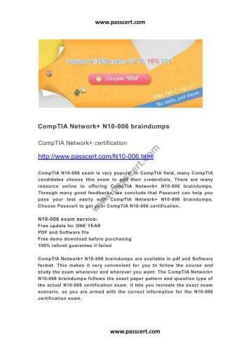CompTIA Network+ N10-006 braindumps
