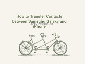 How to Transfer Contacts between Samsung Galaxy and iPhone