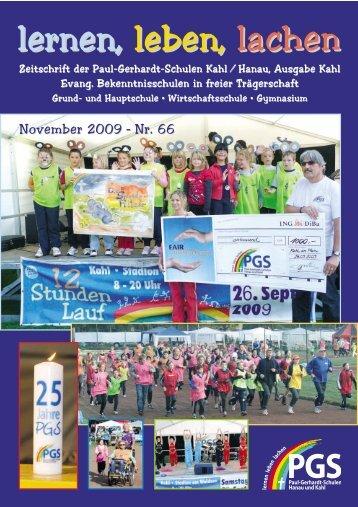 Schulzeitung Nr. 66 - Paul-Gerhardt-Schule Kahl