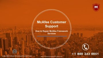 How to Repair McAfee Framework Services