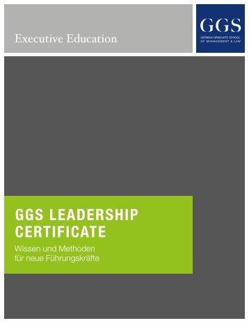 "Broschüre ""Leadership Certificate"""