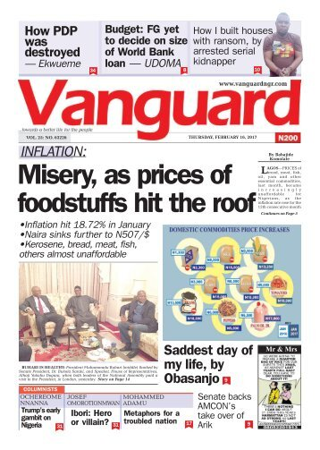 16022017 - INFLATION: Misery, as prices of foodstuffs hit the roof