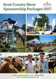 Kent County Show Sponsorship Packages 2017