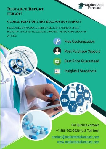 Global Point-of-care Diagnostics Market estimated to be growing at a CAGR of 9.76% by 2021