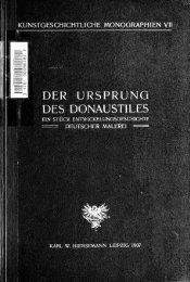 ein Stück Entwickelungsgeschichte deutscher Malerei