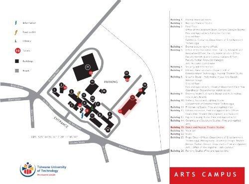 tut pretoria campus map Tut Arts Campus Map tut pretoria campus map