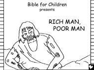 Rich Man Poor Man English CB - Bible for Children