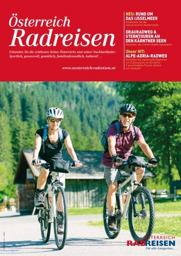 Österreich Radreisen Katalog 2018