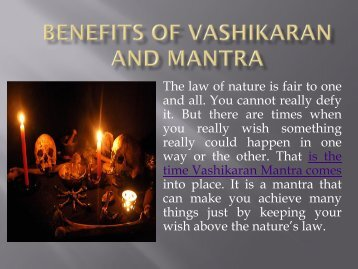 Benefits of Vashikaran and Mantra