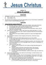 Jesus und Lazarus - Bibelinfo.net