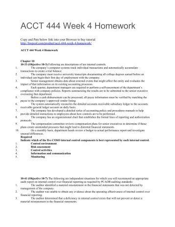 ACCT 444 Week 4 Homework