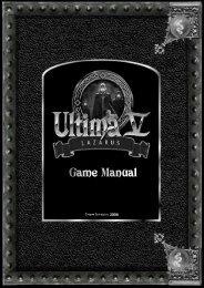 Ultima V: Lazarus Game Manual