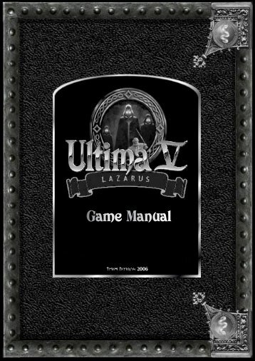 Ultima V: Lazarus Game Manual