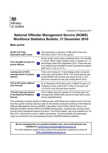 noms-workforce-statistics-bulletin-31-december-2016