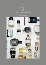 Annual Report Skins Cosmetics 2016