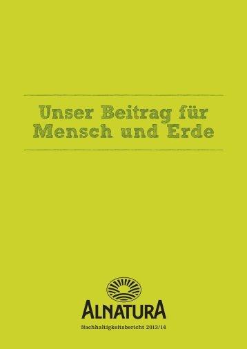Alnatura_Nachhaltigkeitsbericht 2013/2014