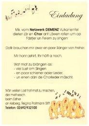 Einladung Chor