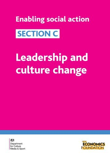 Leadership and culture change