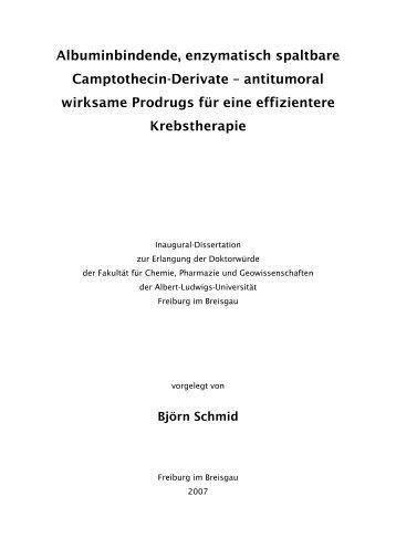 Albuminbindende, enzymatisch spaltbare Camptothecin-Derivate ...