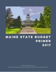 Maine State Budget Primer 2017