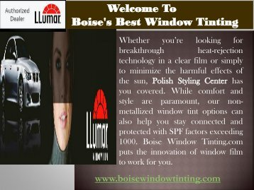 Window Tinting Idaho |Boise Window Tinting