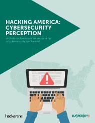 HACKING AMERICA CYBERSECURITY PERCEPTION
