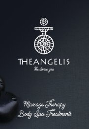 Theangelis | Massage Therapies - Body Spa Treatments