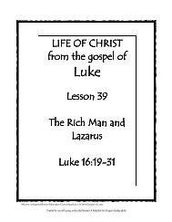 Lesson 39 - Rich Man & Lazarus - Mission Arlington