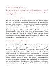 Generelle Änderungen der neuen  HOAI - pilzgmbh.de