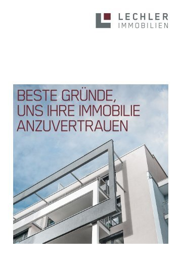 Broschüre als PDF - Lechler Immobilien