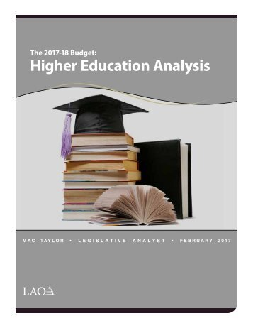 Higher Education Analysis