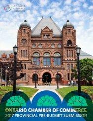 2017 Provincial Pre-Budget Report | 1