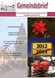 Dezember / Januar 2012 - Evang.-Luth. Kirchengemeinde Leerstetten