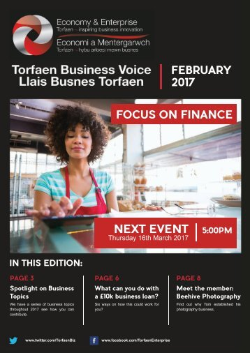 Torfaen Business Voice - February 2017 Newsletter