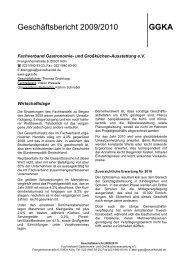 Geschäftsbericht 2009/2010 GGKA - BWB