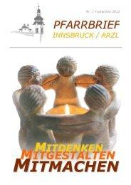MITMACHEN - Pfarrgemeinde Innsbruck Arzl