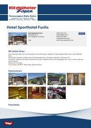 Hotel Sporthotel Fuchs - Ferienregion Hohe Salve