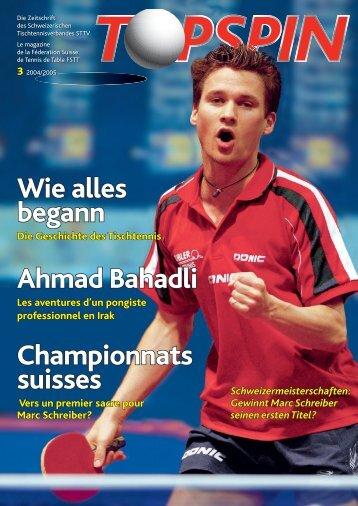 Wie alles begann Ahmad Bahadli Championnats suisses