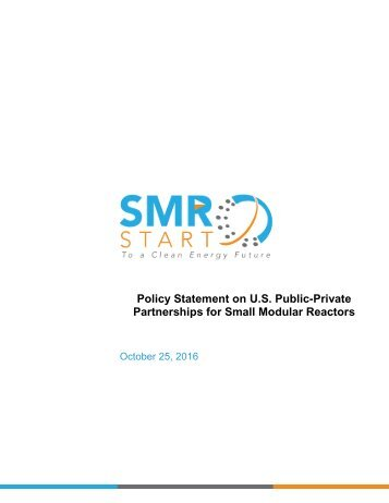 Policy Statement on U.S Public-Private Partnerships for Small Modular Reactors