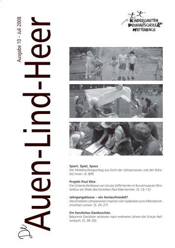 Schulzeitung Layout (total) 10-2008.pmd - Gemeinde Neftenbach