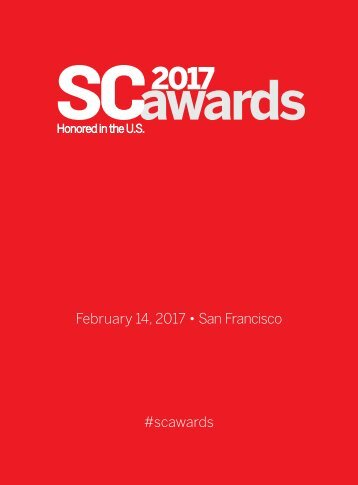 February 14 2017 • San Francisco #scawards