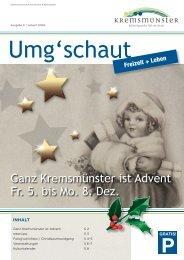 Ganz Kremsmünster ist Advent Fr. 5. bis Mo. 8. Dez.
